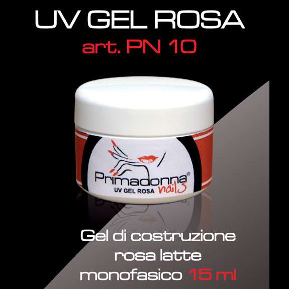 UV GEL TRASPARENTE ROSA MONOFASICO 15 ML