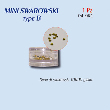 MINI SWAROSKI type B GIALLO